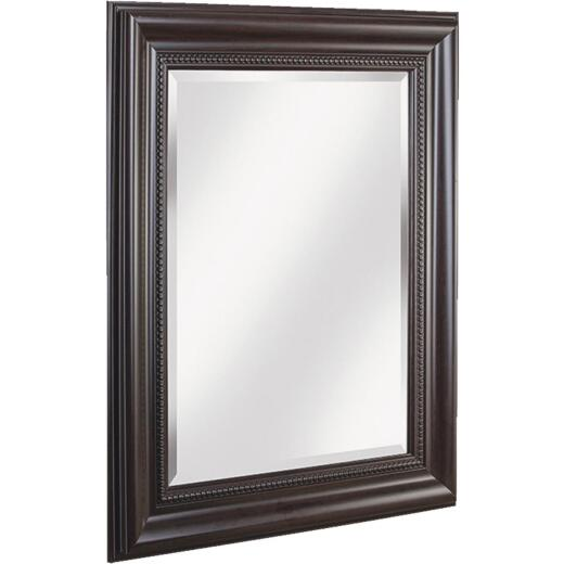 Erias Home Designs 27 In. W. x 33 In. H. Espresso & Bronze Framed Wall Mirror
