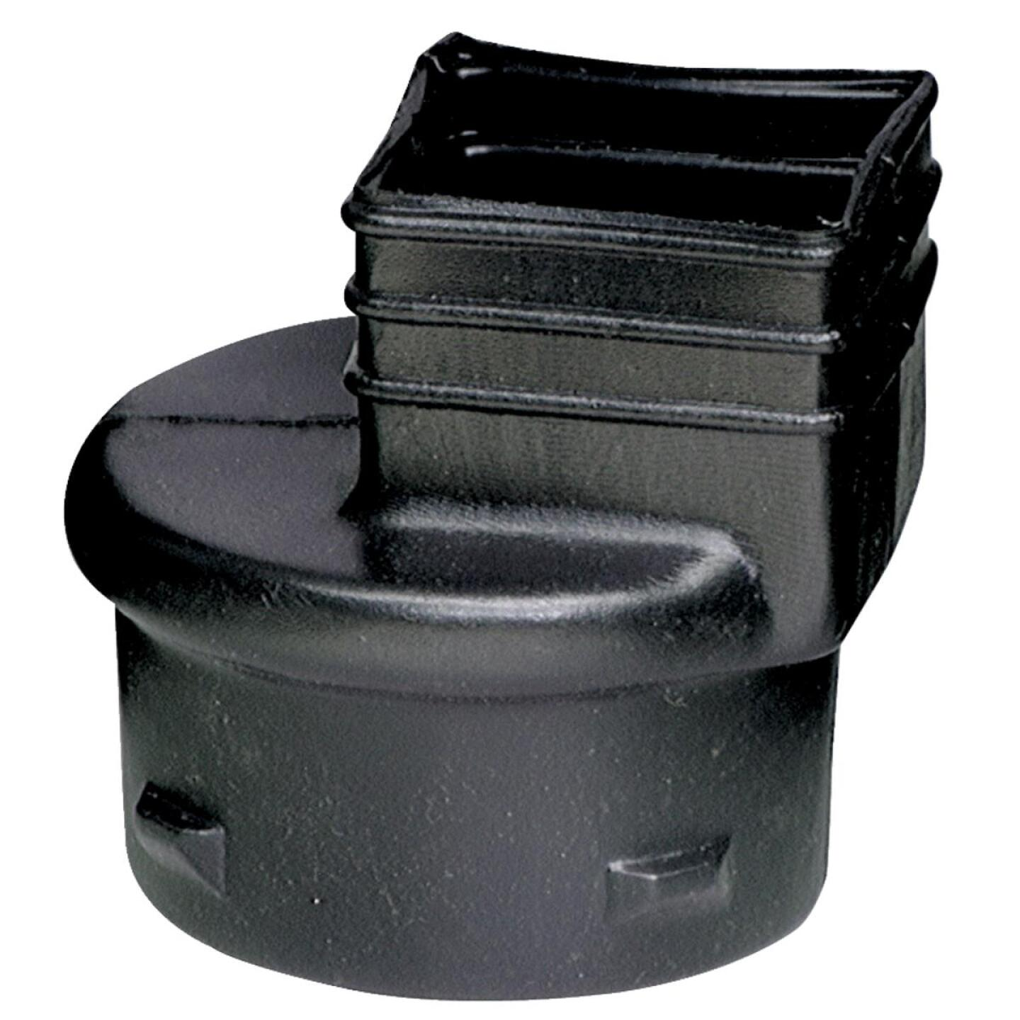 Advanced Basement 3 In. X 4 In. X 4 In. Polyethylene Corrugated to Downspout Barb X Female Adapter Image 1