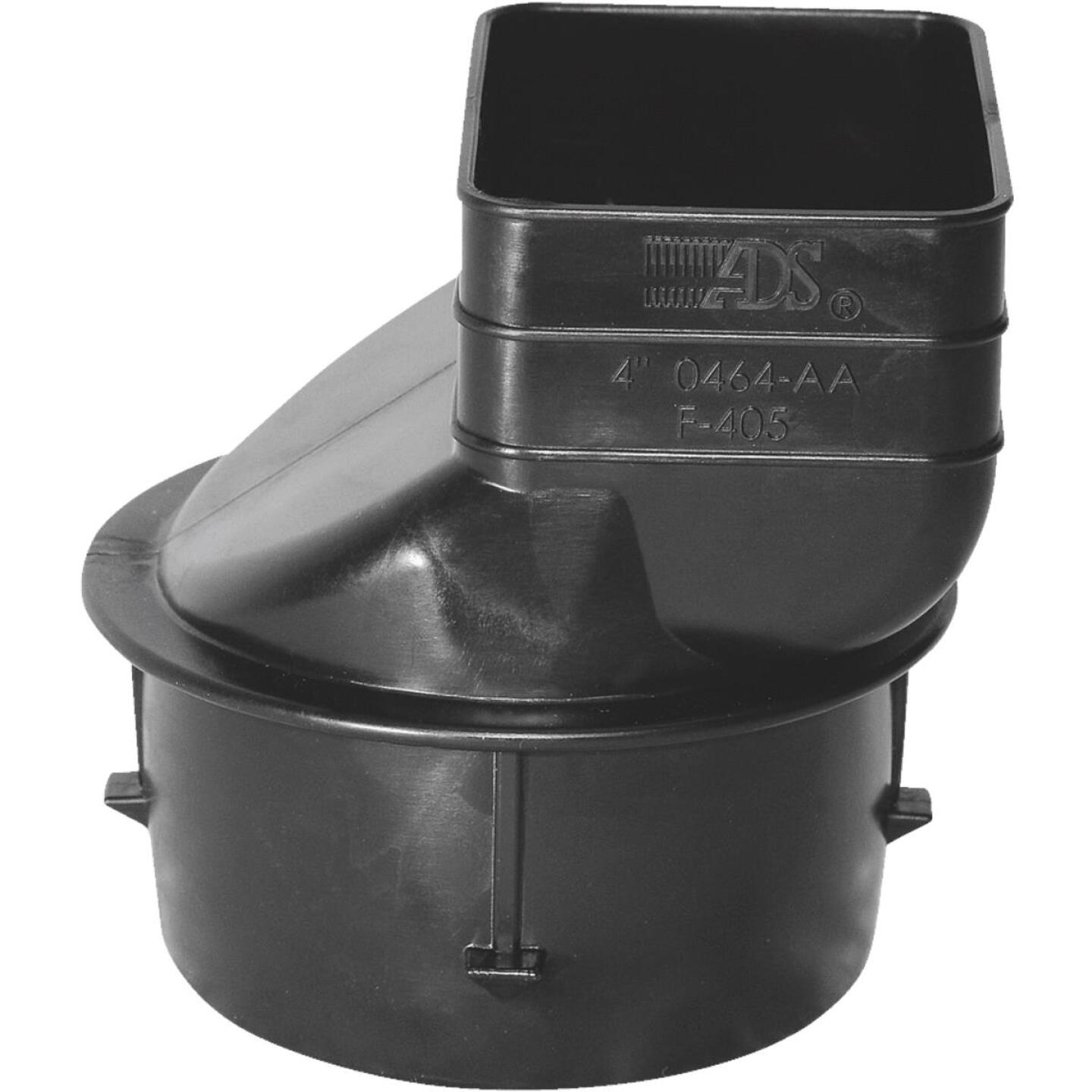 Advanced Basement 2 In. X 3 In. X 3 In. Polyethylene Corrugated to Downspout Barb X Female Adapter Image 1