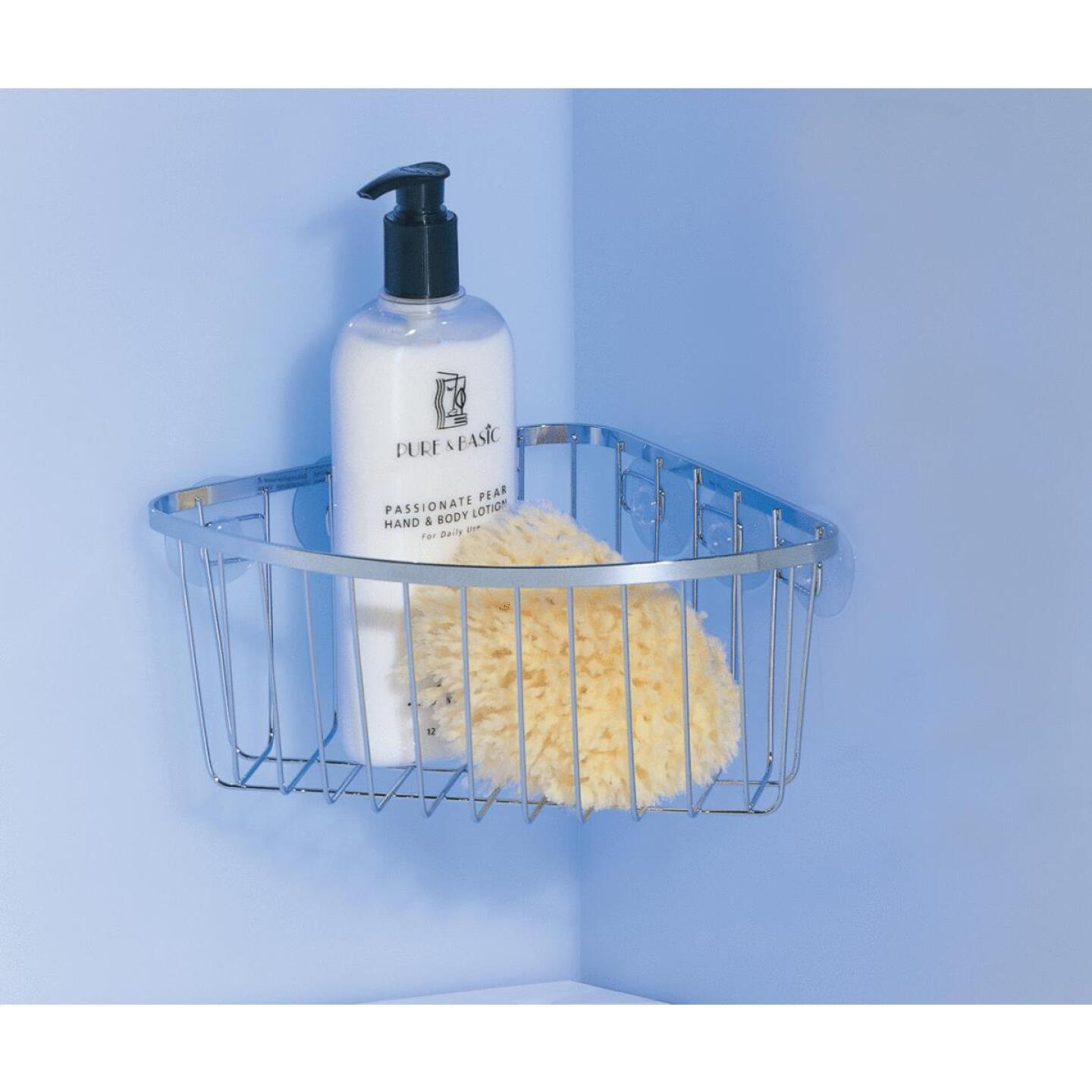 InterDesign Stainless Steel Corner Shower Basket Image 2