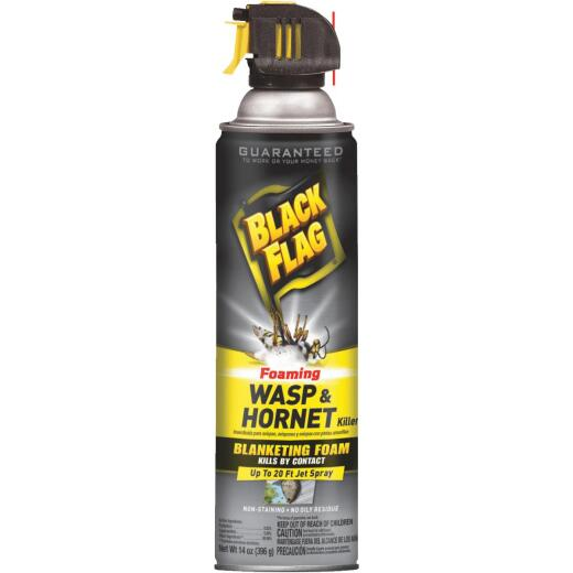 Black Flag 14 Oz. Foaming Aerosol Spray Wasp & Hornet Killer