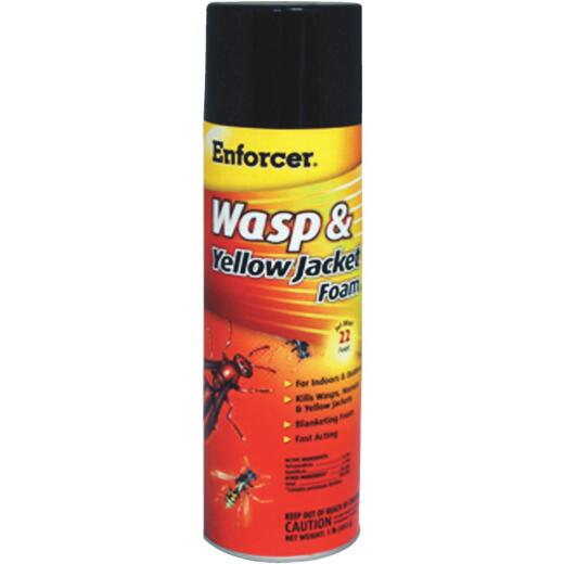 Enforcer 16 Oz. Foaming Aerosol Spray Yellow Jacket, Wasp & Hornet Killer
