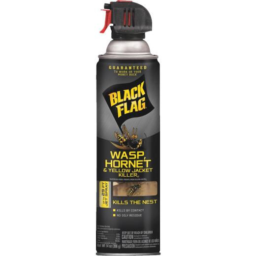 Black Flag 14 Oz. Liquid Aerosol Spray Yellow Jacket, Wasp & Hornet Killer