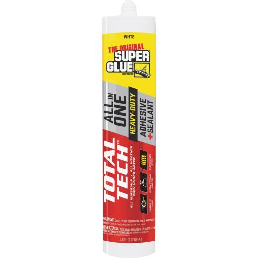 Super Glue Total Tech 9.8 Oz. White Construction Adhesive & Sealant
